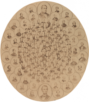 Lawmakers Who Voted Aye for the 13th Amendment, ca. 1865 (GLC01230)