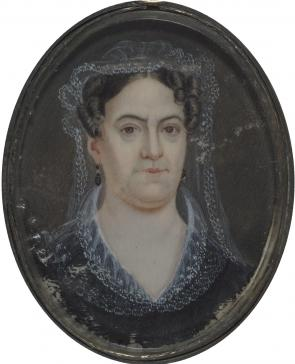 Rachel Jackson, ca. 1824, attributed to Mary C. Strobel. (GLC02793.019.02)