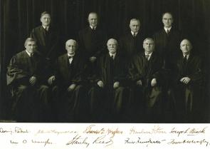 Supreme Court Justices, ca. 1940. Photograph by Harris & Ewing. (GLC)