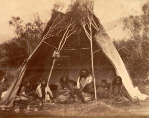 Photograph of American Indians by William Hicks Jackson, 1871. (GLC03095.97)