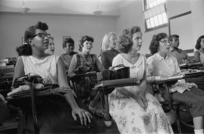 Integrated class at Anacostia High School in Washington, DC, 1957. (Library of C