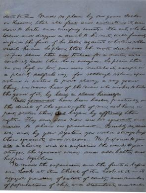 Abraham Lincoln's notes for a speech on slavery and American government, ca. 1857 (GLC03251)