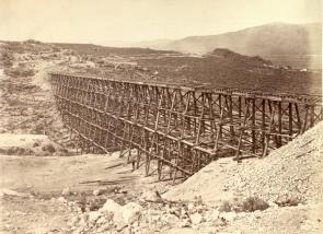 """Promontory Trestle Work,"" Views of the American West, by Andrew J. Russell, ca."