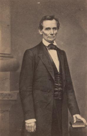Abraham Lincoln, photographed by Mathew Brady, February 27, 1860. (GLC05136.01)