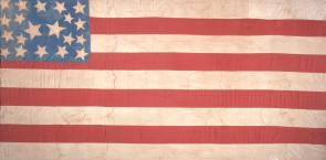 Abolitionist flag, ca. 1859. (Gilder Lehrman Collection)