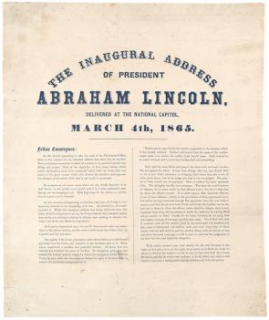 lincoln s second inaugural the gilder lehrman institute of abraham lincoln s second inaugural address gilder lehrman collection