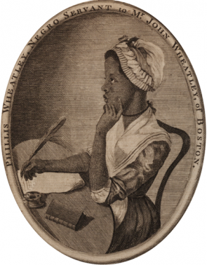 Frontispiece from Phillis Wheatley's Poems on Various Subjects, Religious and Moral, 1773 (GLC06154)