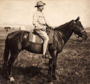 Teddy Roosevelt in the Rough Riders, ca. 1898. (GLC07002.39)