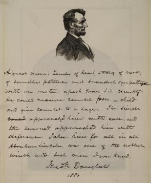 Frederick Douglass on Abraham Lincoln, 1880 (GLC09091)