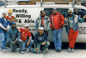 Some of the first Ready, Willing & Able participants in the 1990s (The Doe Fund)