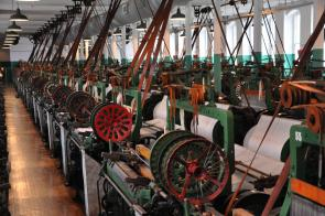 Boott Mill Weave Room at Lowell NHP. (NPS)