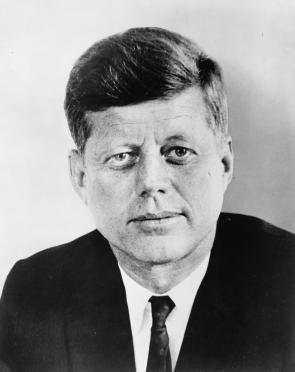 Photograph of President John F. Kennedy, 1961. (Library of Congress Prints and P