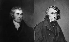 John Marshall and Roger B. Taney (Library of Congress Prints and Photographs)