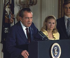 to understand a scandal  watergate beyond nixon   the gilder    richard nixon on the day of his resignation  august      nara