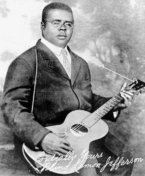 Blind Lemon Jefferson, ca. 1926-1929 (Wikimedia Commons)