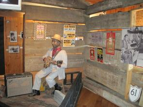 Interior of Muddy Waters's cabin (Courtesy of the Delta Blues Museum)