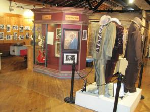 Interior of the Delta Blues Museum, with displays on B. B. King and Joe Willie ""