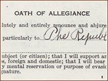 Oath of Allegiance of Mikael Amerikian, 1931 (NARA ARC # 595054)
