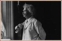 Mark Twain, author of The Adventures of Huckleberry Finn. (Library of Congress Prints and Photographs Division)