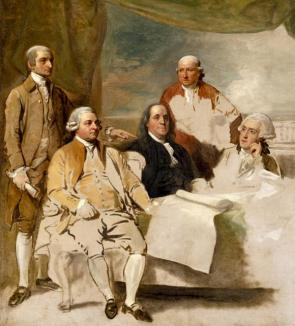 Benjamin West's unfinished American Commissioners of the Preliminary Peace Negot