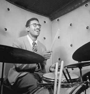Max Roach, New York, ca. 1947, by William P. Gottlieb. (Library of Congress)