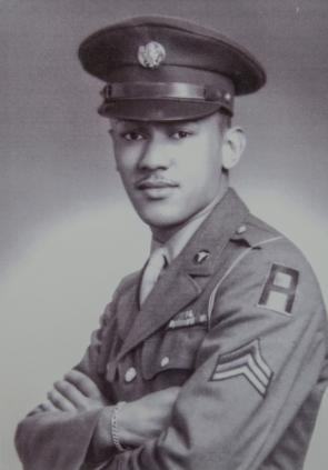 Waverly B. Woodson, Jr., heroic medic who treated hundreds of men on D-Day, ca.