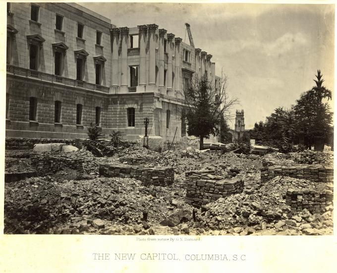 The New Capitol, Columbia, South Carolina, 1865  (GLC00554)
