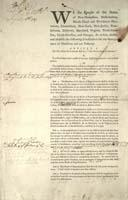 First Draft of the US Constitution, 1787.