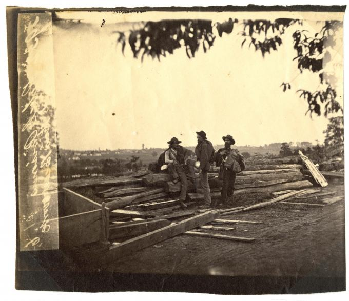 Confederate Prisoners at Gettysburg, Pennsylvania, 1863. (GLC03029.08)
