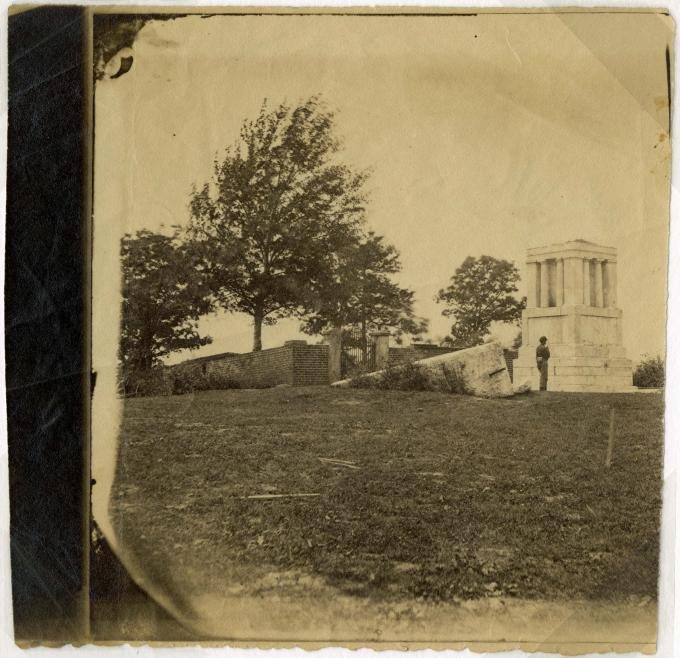 Mathew Brady, Tomb of Mary Washington, Fredericksburg, Va,. circa 1861-1865. (Gi