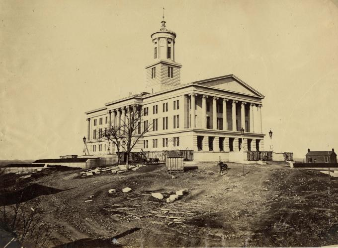 State House in Nashville, Tennessee, ca. 1864–1865. (GLC05111.01.0248)