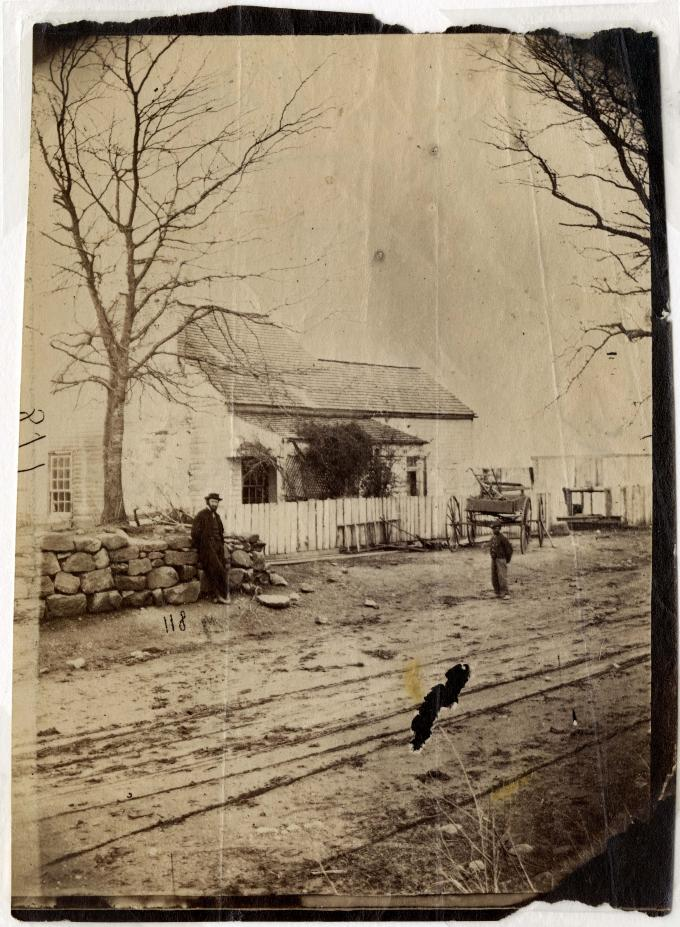 The Stevens House where General Thomas Cobb died,  Fredericksburg, Va., circa 18