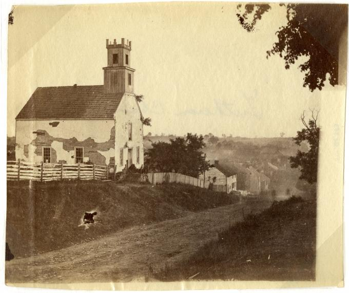 Lutheran Church in Sharpsburg, Maryland, 1862. (GLC05111.01.0753)