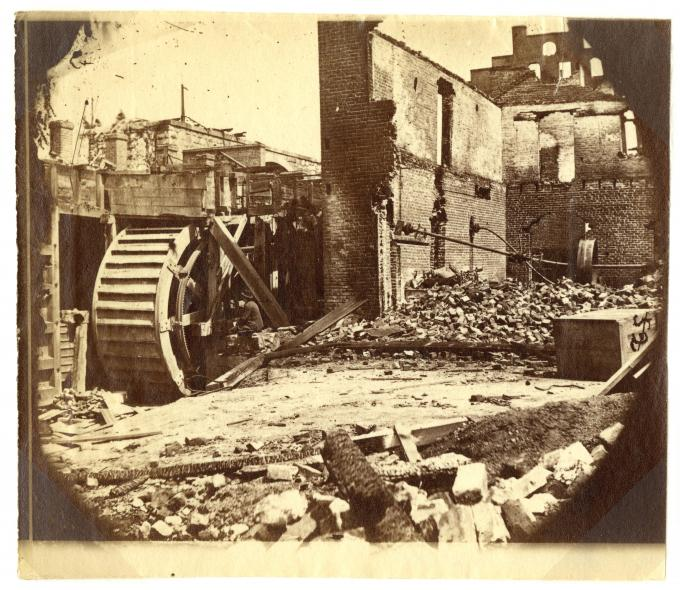 Ruins of a Paper Mill, Richmond, Virginia, 1865. (GLC05111.01.0792)