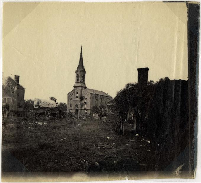 Baptist Church, Fredericksburg, Va., circa 1865. (Gilder Lehrman Collection)