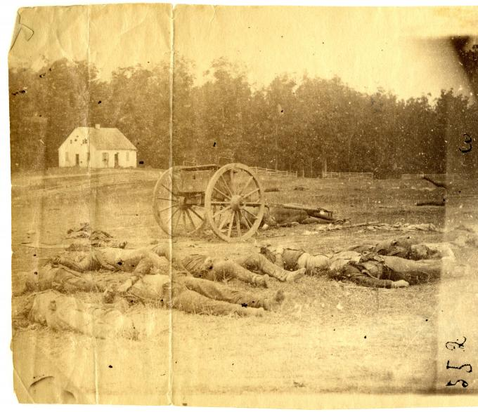 The Field at Antietam near Dunker's Church, 1862. (GLC05111.01.0889)