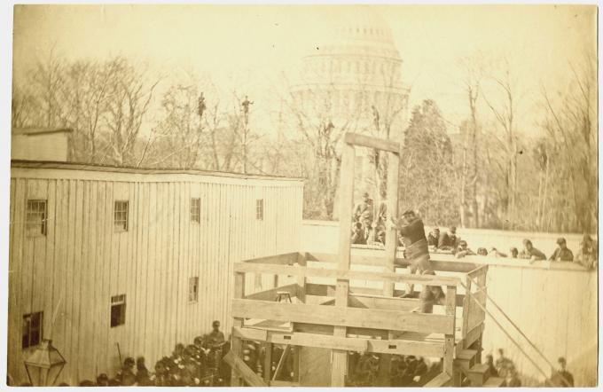 Preparing for the execution of Henry Wirz, Washington. DC, 1865.  (GLC)