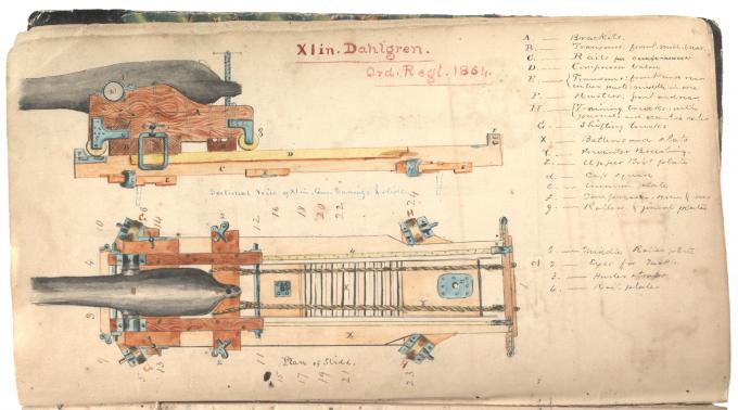 11-inch Dahlgren Gun, ca. 1864. (Gilder Lehrman Collection)