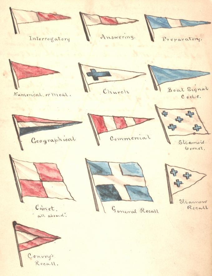 Identification pennants, ca. 1864. (Gilder Lehrman Collection)