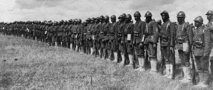 The 15th Regiment Infantry of the New York National Guard in France, ca. 1917 (National Archives)