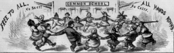 education reform in antebellum america the gilder lehrman  detail from a harper s weekly cartoon by thomas nast 26 1870 education reform is often at