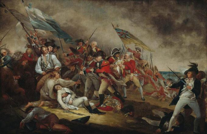 """The Death of General Warren at the Battle of Bunker's Hill, June 17, 1775"" by J"