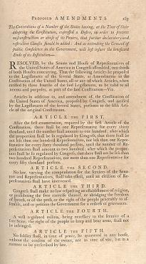 Proposed 12 amendments printed in the Journal of the First Session of the Senate