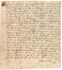 Isaac Merrill to John Currier, April 19, 1775. (Gilder Lehrman Collection)