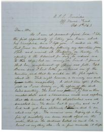Lewis H. West to R. West, October 8, 1863. (Gilder Lehrman Collection)