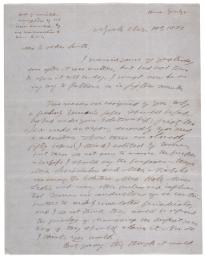 Horace Greeley to Elizabeth Oakes Smith, March 1, 1851 (Gilder Lehrman Colle