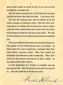 Inaugural Address of Franklin D. Roosevelt, March 4, 1933 (GLC00675)