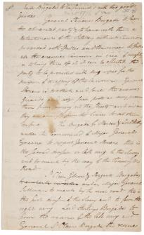 Henry Knox, Order of march to Trenton, December 26, 1776 (Gilder Lehrman Collection)
