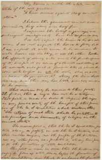 "Abraham Lincoln, notes for the ""House Divided"" speech, December 1857 (Gilder"