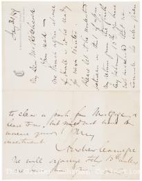 Andrew Carnegie to Hiram Hitchcock, January 31, 1889 (Gilder Lehrman Collection)